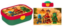 Mepal broodtrommel en drinkbeker Lego Ninjago (op verzoek)