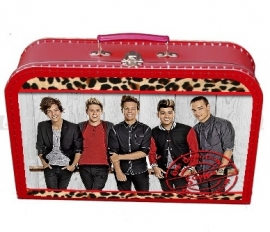 Kinderkoffertje One Direction rood