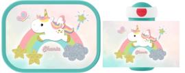 Mepal broodtrommel en drinkbeker Eenhoorn baby ontwerp