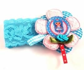 Elastisch armbandje kant blauw Lalaloopsy