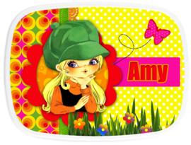 Broodtrommel Flower Power Amy