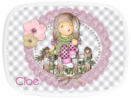 Broodtrommel Charming Chloe met naam