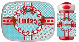 Set Mepal broodtrommel en drinkbeker Lindsey Blue