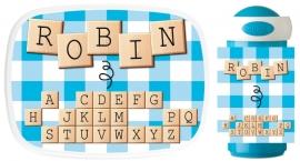 Set broodtrommel en drinkbeker Scrabble