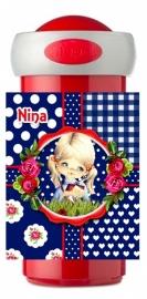 Drinkbeker Nina blauw
