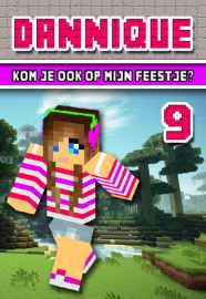Kinderfeest uitnodiging Minecraft meisje, setje van 5 stuks