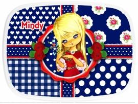 Broodtrommel Mindy blauw