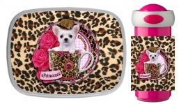 Set broodtrommel en Drinkbeker Chihuahua in Teacup