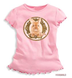 Strijkapplicatie Bunny gold met naam