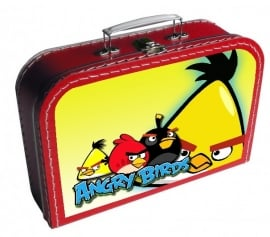 Kinderkoffertje Angry Birds cool rood