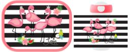 Mepal broodtrommel en drinkbeker Flamingo ontwerp