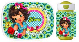 Set Mepal broodtrommel en drinkbeker Nora Retro