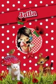 Kinderfeest uitnodiging Juul, setje van 5 stuks