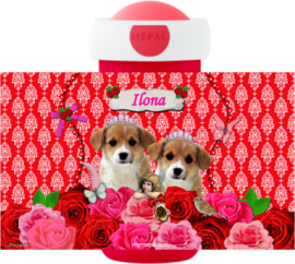 Set Mepal broodtrommel en drinkbeker Kitsch Dog
