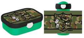 Set broodtrommel en drinkbeker Army Soldier