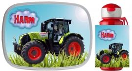 Set Mepal broodtrommel en drinkbeker traktor Harm