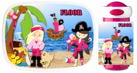 Set Mepal broodtrommel en drinkbeker Pirate Girls