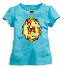 Hip meisjesshirt (biocotton) met applicatie Bambi vintage mt 128