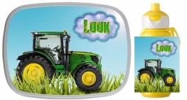 Set broodtrommel en beker Traktor Luuk
