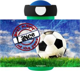 Set broodtrommel en drinkbeker voetbal Best Player