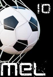 Kinderfeest uitnodiging Voetbal Goal!, setje van 5 stuks