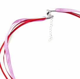 Special made ketting roze / rood