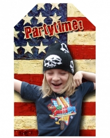Kinderfeest traktatie labels  USA, setje van 5 stuks