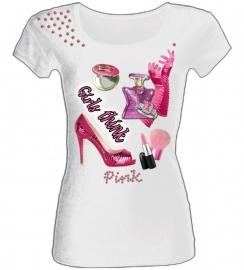 SPECIAL!!!!!  Shirt Girls Think Pink!! megatopper.....