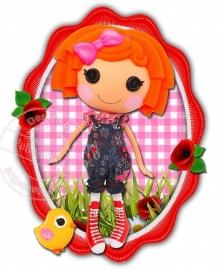 Strijkapplicatie Lalaloopsy Redhead