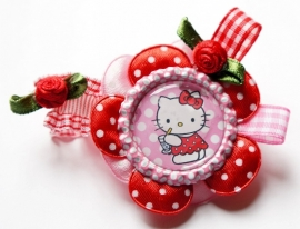Elastisch armbandje rood Hello Kitty