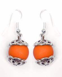 Oorbelletjes bij geluksengeltje oranje
