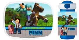 Set broodtrommel en drinkbeker Minecraft Horse