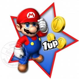 Strijkapplicatie Mario Bros 1up