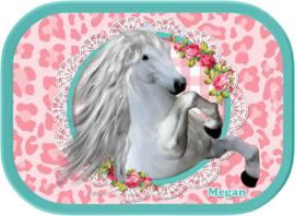 Mepal broodtrommel White Horse Pink