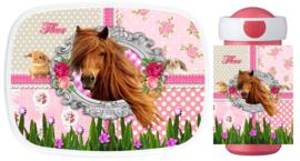 Set Mepal broodtrommel en drinkbeker Paard Annemijn