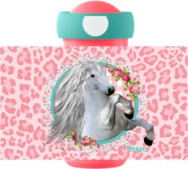 Mepal drinkbeker White Horse Pink