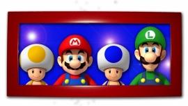 Leuk lijstje langwerpig rood met Mario Bros & Friends