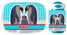 Set Mepal broodtrommel en drinkbeker Pinguin