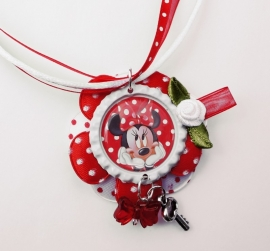 SPECIAL MADE ketting Minnie Mouse met bedels