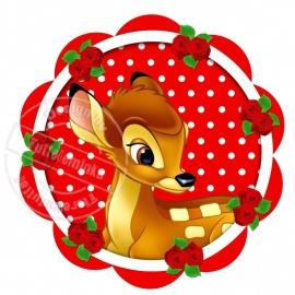Strijkapplicatie Love Bambi