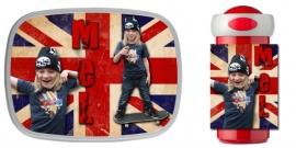 NIEUW!! Set broodtrommel en drinkbeker British Flag met foto en naam