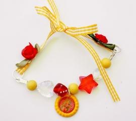 Strikarmbandje geel