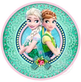 Strijkapplicatie Frozen Fever Anna en Elsa