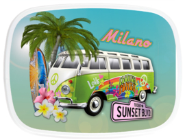 Broodtrommel VW Bus Hawai Hippie