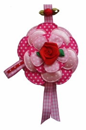 Broche Sweet flowers roze / rood 2