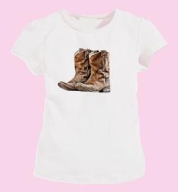 Hip meisjesshirt (biocotton) wit met Boots