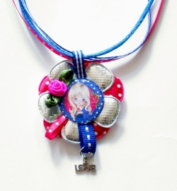 SPECIAL MADE ketting Pipsy colour zilver