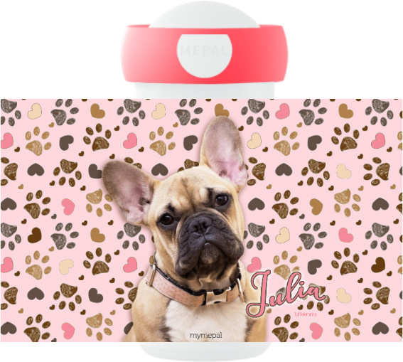 Mepal Drinkbeker Frenchy pink (Franse Bulldog)