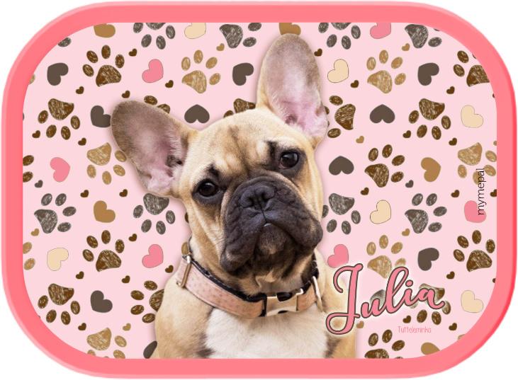 Mepal broodtrommel Frenchy pink (Franse Bulldog)