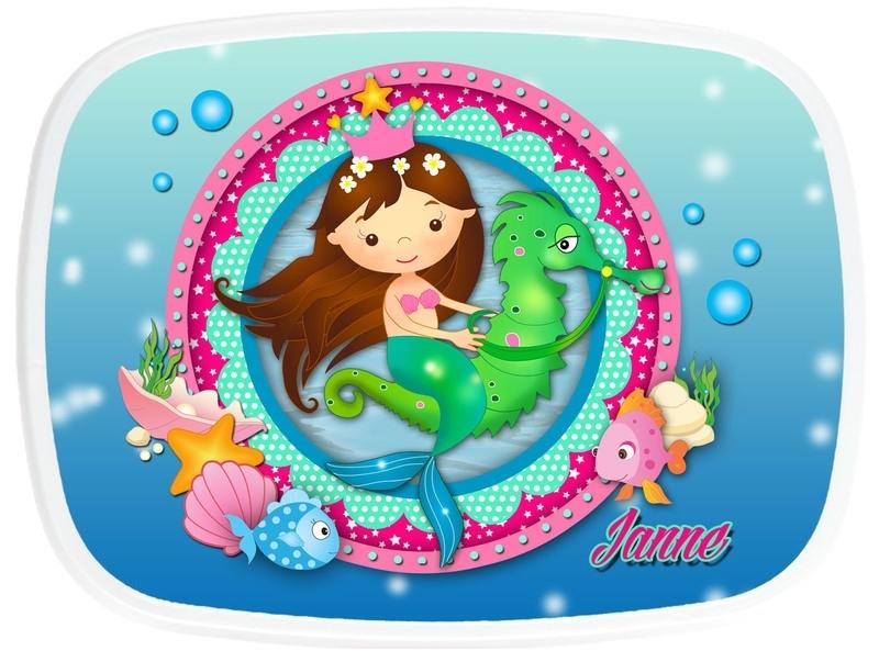 Broodtrommel Mermaid (zeemeermin)